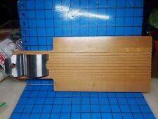 Bill Dance Pan Fish Filet Wood Cleaning Cutting Board Metal Clip, Knife Storage