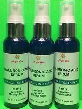 3*2oz CoQ10 HYALURONIC ACID SERUM Face Eyes Matrixyl Argireline Vitam C Anti-Age