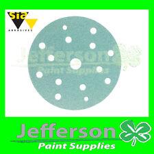 SIA Sanding Discs 400grit 15 hole x100 NEW 1948 LINE sandpaper paper SIAFLEX