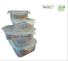 Boite Plastique Alimentaire Hermétique Conservation Lot de 4 + Couteaux gratuits