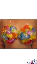 1 soutien-gorge en fleurs multicolores hawaïen hawaï tahitien