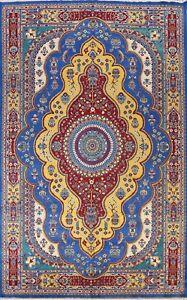 Vegetable Dye Bakhtiari Hand-knotted Area Rug Medallion Oriental Carpet 10'x14'
