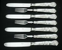 Antique Silver Part Dessert Cutlery Set, Queens Pattern, Atkin & Oxley 1840
