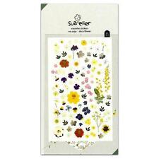 CUTE DECO FLOWER STICKERS Floral Kawaii PVC Sticker Sheet Craft Scrapbook Seal