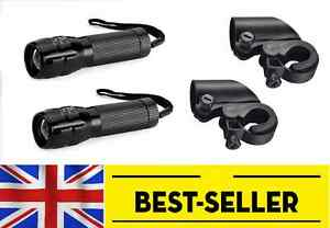 TWO pcs front zoomable aluminium led lights - two double bright light lamp bike