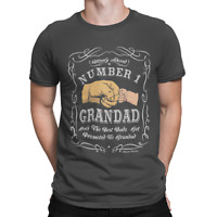 Mens T-Shirt Number 1 Grandad FATHERS DAY Birthday Gift For Grandfather Adored