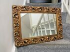 LARGE VINTAGE SCROLLED LEAF ROCOCO STYLE GILDED ORNATE GOLD WALL DRESSING MIRROR