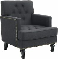 Single Sofa Chair Tufted Velvet Accent Armchair For Living Room Modern Furniture