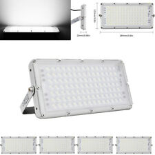 5X 100W Ip66 Led Flood Light Cool Super Bright Garden Workshop Outdoor Lamp Us