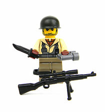 WWII US Army Sniper Minifigure (SKU65) Army Builder made with real LEGO® minifig