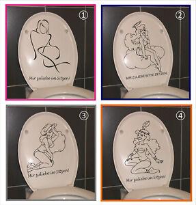 """Aufkleber Sticker Clodeckel Klodeckel Toilettenhinweis """"bitte setzen"""" (1025)"""