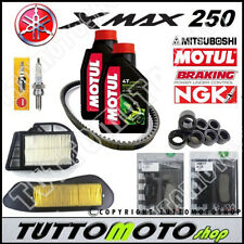 KIT TAGLIANDO YAMAHA X-MAX 250 2010 2011 XMAX OLIO PASTIGLIE CINGHIA FILTR RULLI