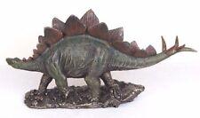 "Stegosaurus Dinosaur Bronze Figurine Miniature Statue 11""L New in Box"