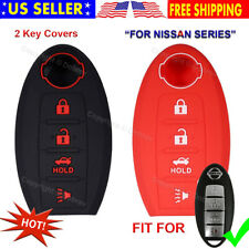 Silicone Cover Entry Fob Case Skin 4 Nissan Altima Armada Versa Sentra Leaf Key