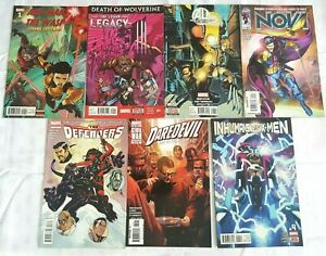 7 Marvel Comic Back Issues - Ant Man & The Wasp, The Defenders,  Nova, Wolverine