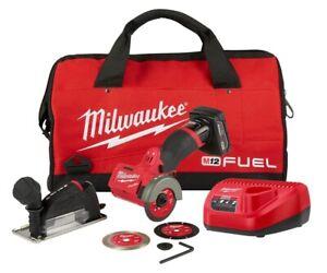 Brand New Milwaukee 2522-21XC M12 FUEL 3-Inch 4.0Ah Cordless Cut Off Tool Kit