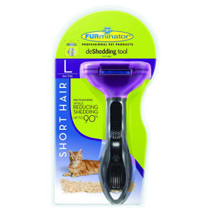 Furminator deShedding tool - Short hair removal tool for cats - NEW Free shipp