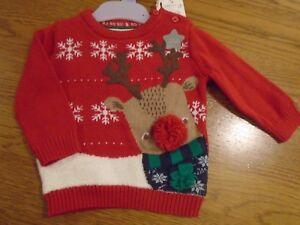 BNWT baby boy F&F Christmas jumper. Reindeer.  3-6 mths.            (2/2)