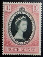 BORNEO ( SABAH MALAYSIA ) 1953 CORONATION MINT HINGED MHOG