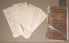 24 PENNSYLVANIA RAILROAD PAY STUBS for year 1957 +Correspon Saddler's Time Book