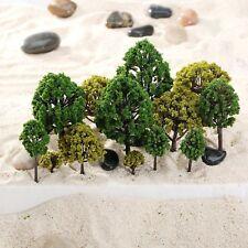 40pcs mélangé échelle modèle arbres HO N O Scale Model arbres rue Garden décor