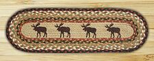 "MOOSE 100% Natural Braided Jute Rug, 27"" x 8.25"" Oval, Capitol Earth Rugs"