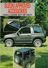 Suzuki Vitara 2-Seater Soft Top Utility Accessories 1989-90 UK Market Brochure