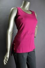 $635 New ALEXANDER McQUEEN Magenta Pink Button Trim Stretchy Wool Top 44 10