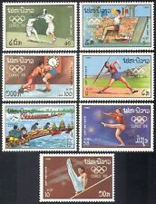 Laos 1988 Olympic Games/Olympics/Sports/Fencing/Rowing/Wrestling 7v set (b8463)