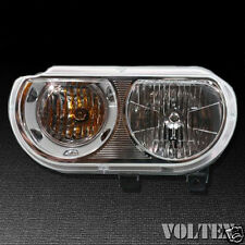 2008-2012 Dodge Challenger Headlight Lamp Clear lens Halogen Driver Left Side