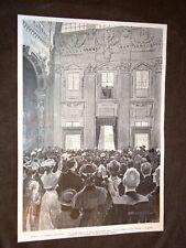 Roma nel 1903 Elezione di Papa Pio X Prima benedizione del nuovo Pontefice