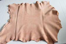 Italian thick Goatskin leather skin skins Suede Light Peach 4+sqf #8755