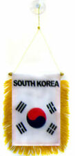 "Wholesale lot 12 South Korea Mini Flag 4""x6"" Window Banner w/ suction cup"