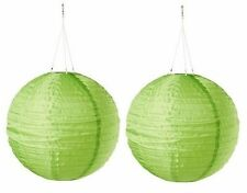 "New Ikea 2 pack Solvinden Green globe 12"" Solar Powered led Light"