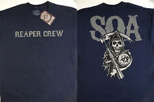 Sons of Anarchy SOA Reaper Crew Cracked Logo Tv Show T-Shirt Nwt