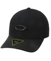 Oakley Men's Tincan Cap Hat Metal Logo, Black Large X-Large, Ellipse, Carbon