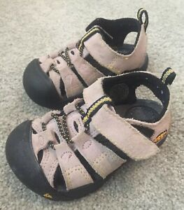 KEEN Light Brown Leather Sandals  - Size 4 Toddler