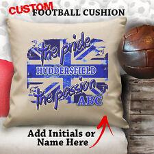 Personalised Huddersfield Football Cushion Custom Cover Canvas Sport Gift