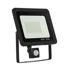 10W 20W 30W 50W PIR LED Flood Light Lamp Garden Outdoor Light IP65 AC 175V-265V