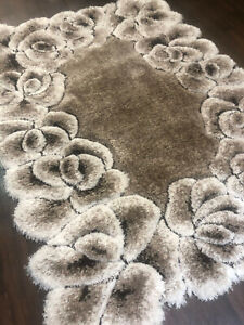 X Romany Rugs Approx 7x5FT 160X210CM 3D Rug Top Quality Cream-Beige Gypsy Carved