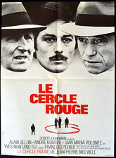 RED CIRCLE 1970 Jean-Pierre Melville, Alain Delon, Andre Bourvil FRENCH POSTER