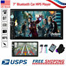 """Bluetooth Car Stereo Radio 2DIN 7"""" HD MP5 FM Player Touch Screen + Free Camera"""