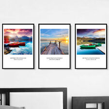 3 Piece Wall Prints - Colorful Landscape Quotes Large Canvas Art Unframed