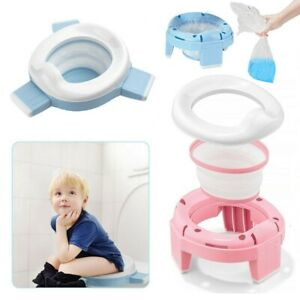 3 in 1 Home & Travel Baby Potty & Toddler Toilet Trainer Seat Foldable with Bag