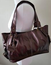 Loxwood Ladies Metallic Chocolate Brown Soft Shoulder Grab Large Bag Handbag