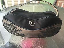 Christian Dior Blacklace Gold Logo Parfums Bag. Leather Strap