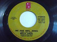 Billy Paul Me And Mrs. Jones / Your Song 45 1972 Philadelphia Soul Vinyl Record