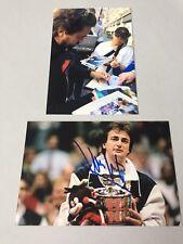 Henri Leconte joueur de tennis dans-personne signed photo 10 x 15 autographe + photo