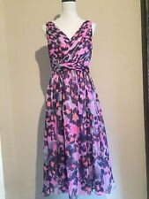 J.Crew Collection silk chiffon sleeveless dress in watercolor floral Size 6 NWT