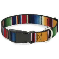 Buckle Down Dog Collar Zarape Stripe - Narrow - Wide S M L - Made in USA